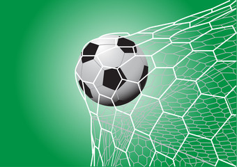 soccer ball in goal vector images