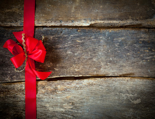 Festive red bow for a Christmas card