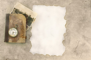 Vintage background letter old watch book pictures