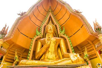 Big golden Buddha in Wat Tham Suea,Kanchanaburi, Thailand
