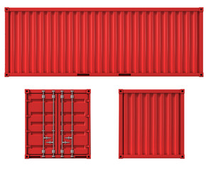 Obraz cargo container front side and back view - fototapety do salonu