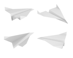 paper plane from different views