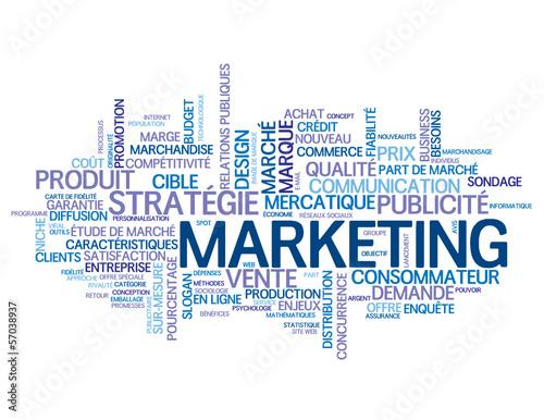 Nuage de tags marketing publicit communication strat gie fichier vectoriel libre de - Mot commencant par pr ...
