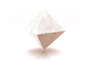 Pyramide gespiegelt