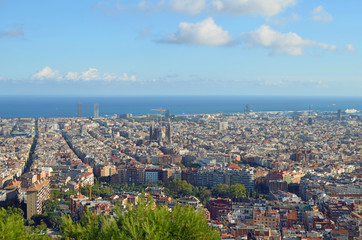 Vista de Barcelona desde el Turo de la Rovira.