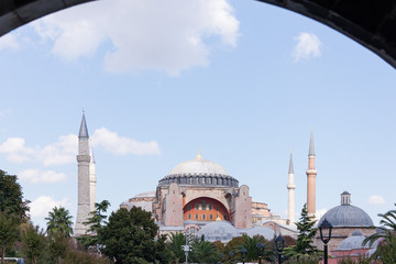 Hagia Sophia As Seen from The Blue Mosque Main Gate