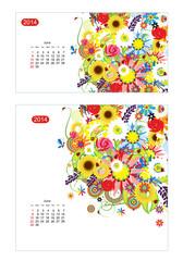 Floral calendar 2014, june