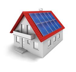 Modellhaus mit Solaranlage