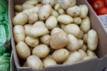 potatoes in carton box
