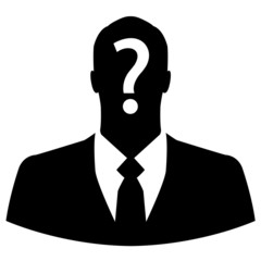 Anonymous businessman icon