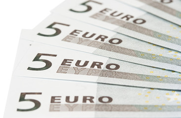 banknotes on five euros