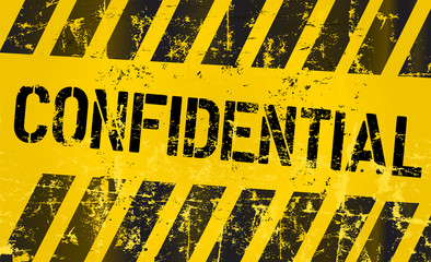 confidential sign, vector eps 10