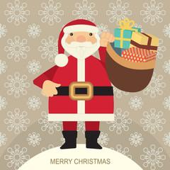 Santa Claus carrying presents 2