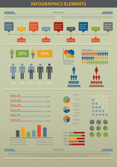 Infographic element. Population.