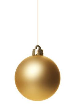 Weihnachtskugeln gold