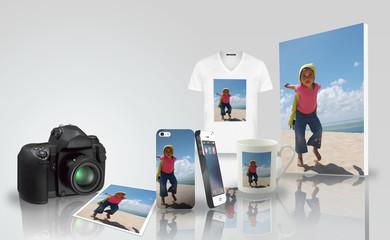 Tirage photo - impression sur objet - enfant vacances