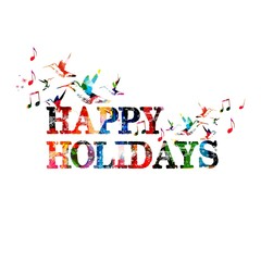 Colorful vector happy holidays background