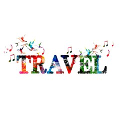 Colorful vector travel background