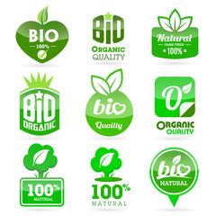 Bio - Eco - Natural icon set