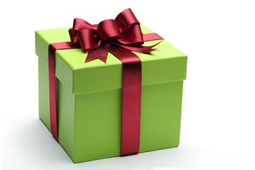 Wall Mural - Green gift box