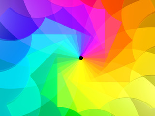 3d abstract background spiral of colors