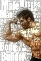 word picture body builder