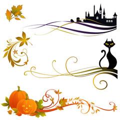 halloween scroll design