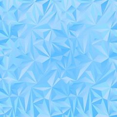 Crystal ice triangles blue background