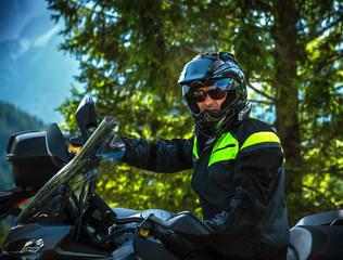 Fototapete - Biker portrait