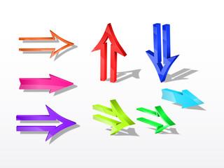 3d vector arrows.