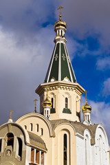 Dome of the temple of great Martyr Tatiana. Kaliningrad, Russia