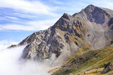 雲海上の杓子岳