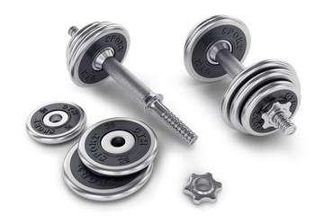 Set of dumbbell for fitness