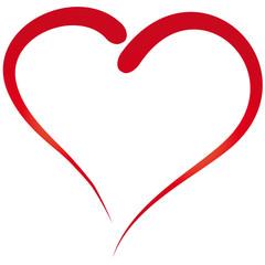 Herz - gemalt - einfacher Umriß