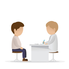 Medical Examination - Isolated On White Background