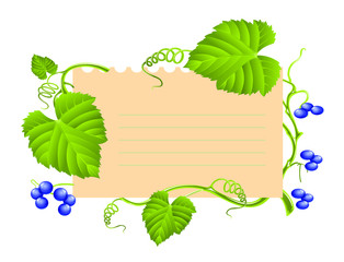 note paper with leaves