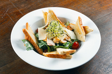 Healthy appetizer with  toast