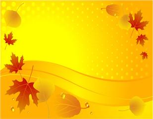 Autumn decoration. Vector.