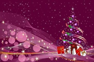 bożonarodzeniowa dekoracja z choinką