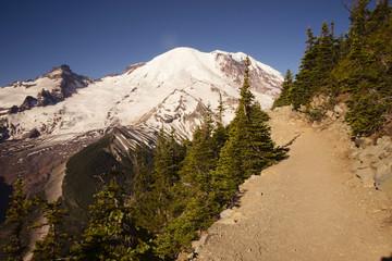 Wall Mural - Trail Burroughs Mountain Cascade Range Mt. Rainier Background
