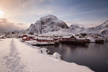 lofoten island during winter time