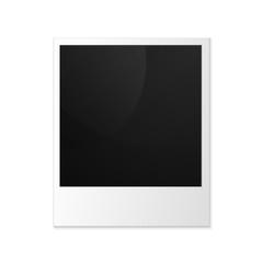 Old photo frame isolated on white background. Vector illustratio