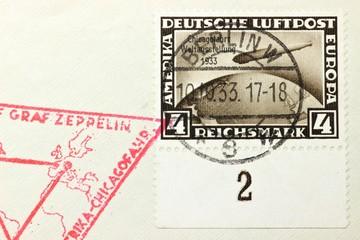 Flugpostmarke aus dem Deutschen Reich