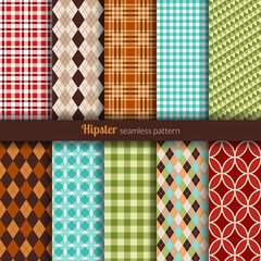 Seamless patterns hipster style