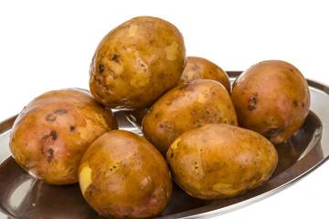 Young raw potato