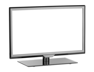 lcd monitor isolated on white