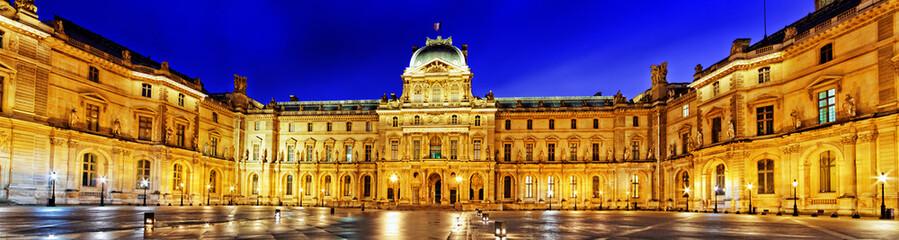 Foto auf Gartenposter Paris PARIS - APRIL 16. Louvre museum on April, 16, 2012. The Louvre