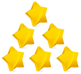 Stars - Glossy Stars in triangle layout