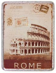 Colisée, Rome, Italie, couvercle métallique de boîte