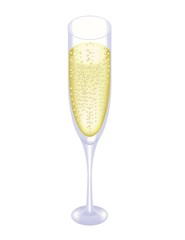 Champagne glass isolated. Vector illustration